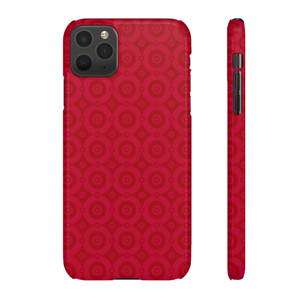 Red Lumina iPhone Snap Phone Case