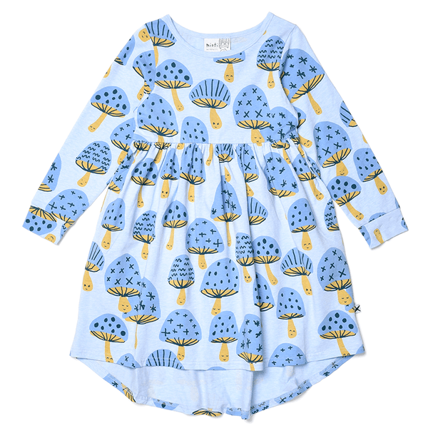 MUSHROOMS MOTIF DRESS
