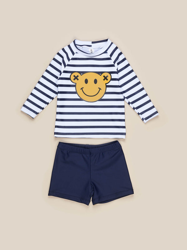 SMILEY RASHGUARD (2PC SET)