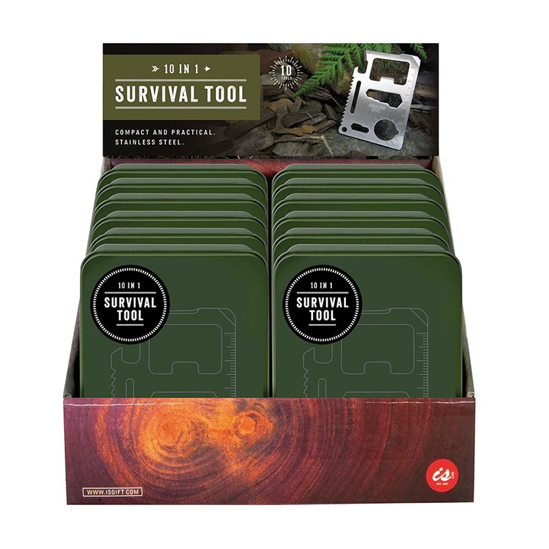 10 IN 1 SURVIVAL TOOL IN A TIN
