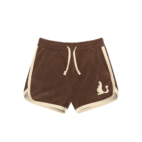 BROWN JOGGER SHORTS