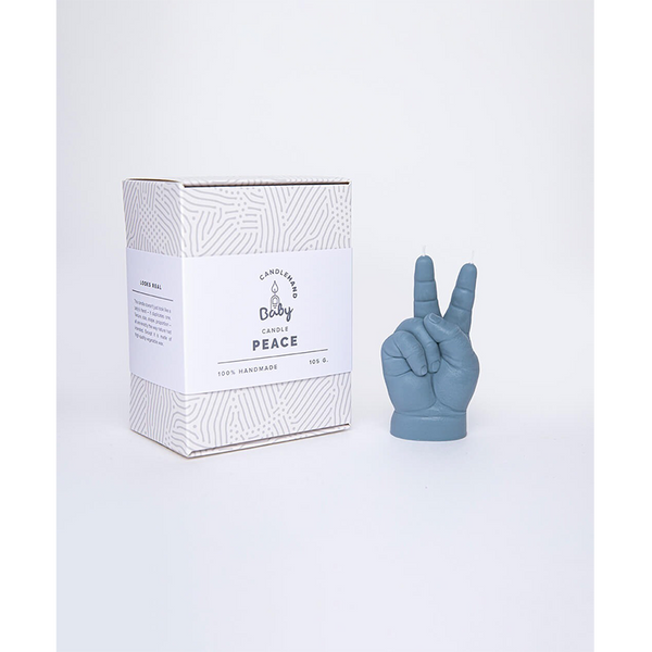 """PEACE"" BABY HAND CANDLE"