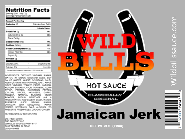 Wild Bill's Jamaican Jerk Sauce 5oz.