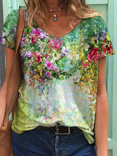 floral-casual-shift-short-sleeve-t-shirts-img-show