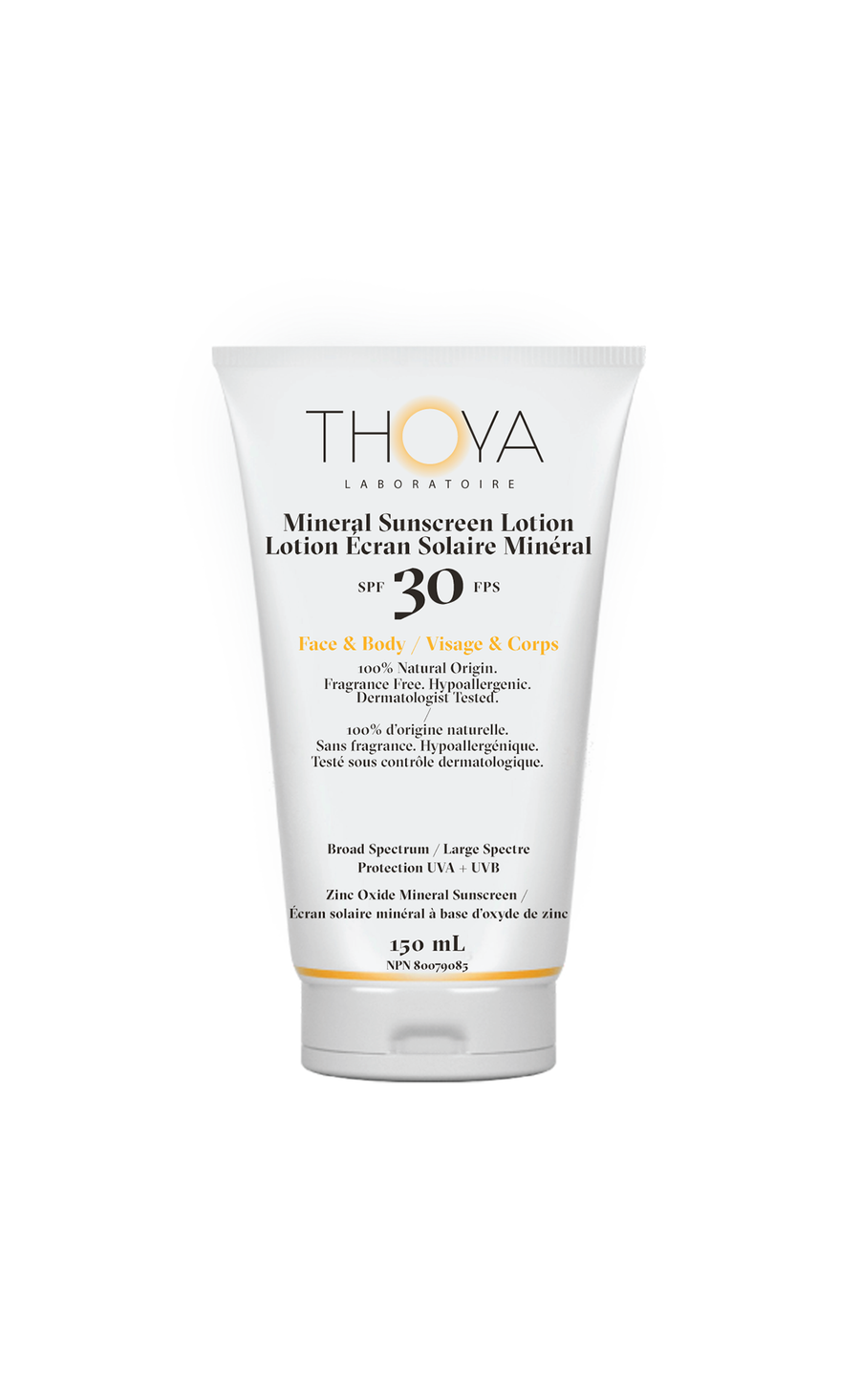 Thoya All Natural Mineral Sunscreen - Zinc Oxide UV Filter - Best natural sun care - Hypoallergernic - Dermatologist tested - Fragrance free