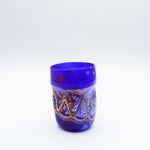Glass in Murano glass. Sketch collection. Blue color. 11 cm.
