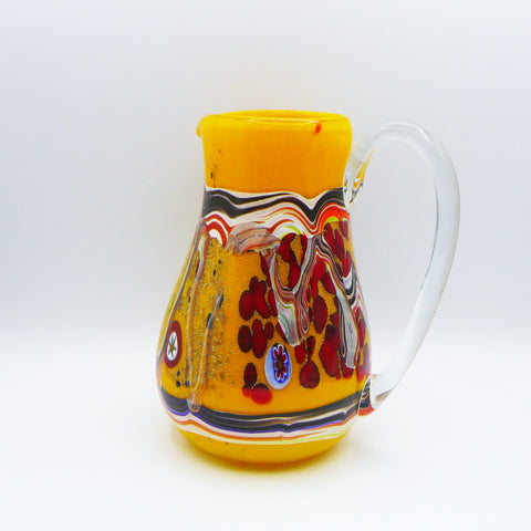 Murano glass carafe. Sketch collection. Yellow color. 22 cm.