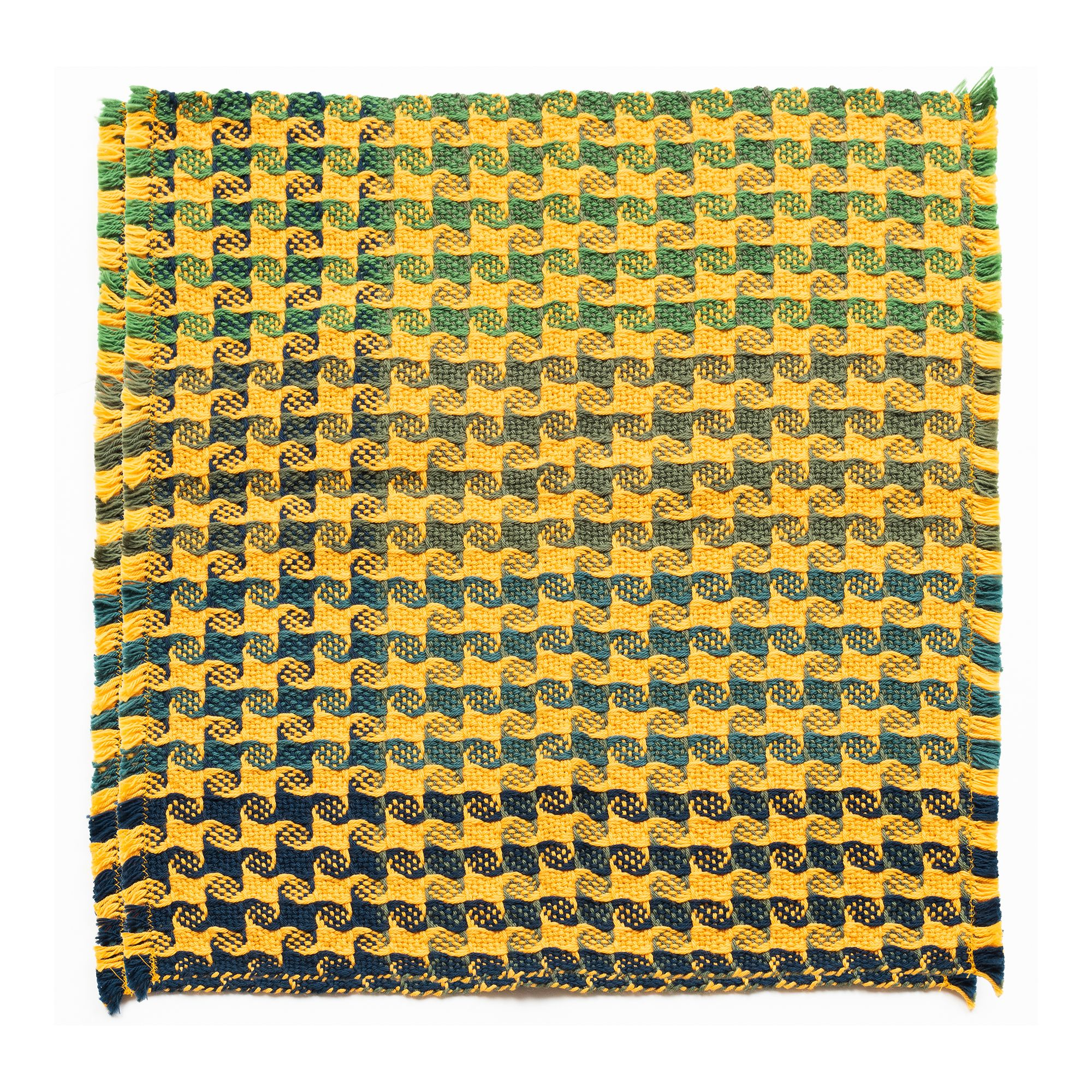 Mountain Valley Weavers  X Aspen Art Museum Set of Four Yellow and Blue Ombre Napkins