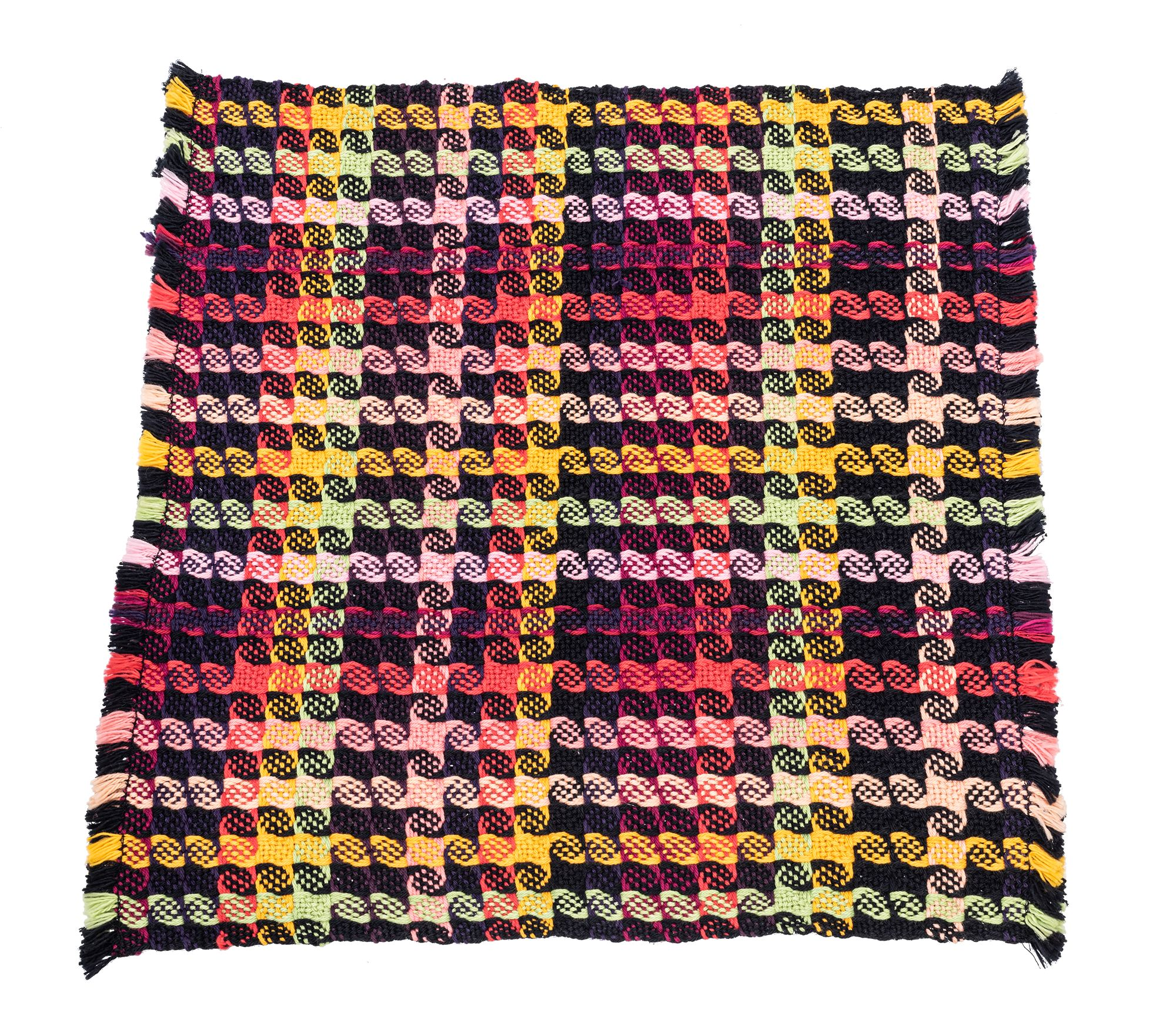 Mountain Valley Weavers  X Aspen Art Museum Set of Four Black and Pink Ombre Napkins