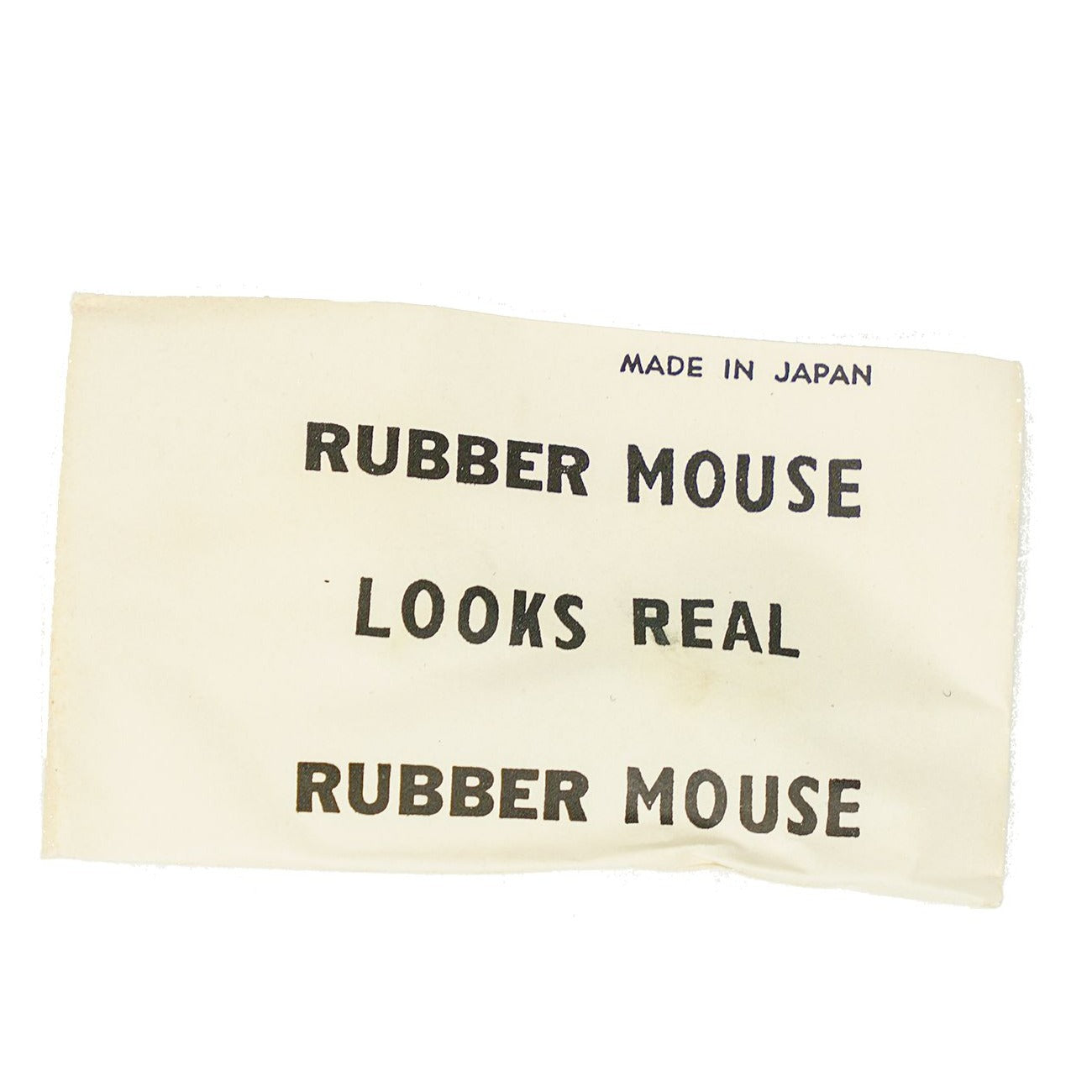Rubber Mouse Looks Real Novelty from Japan, circa 1950s, N.O.S.