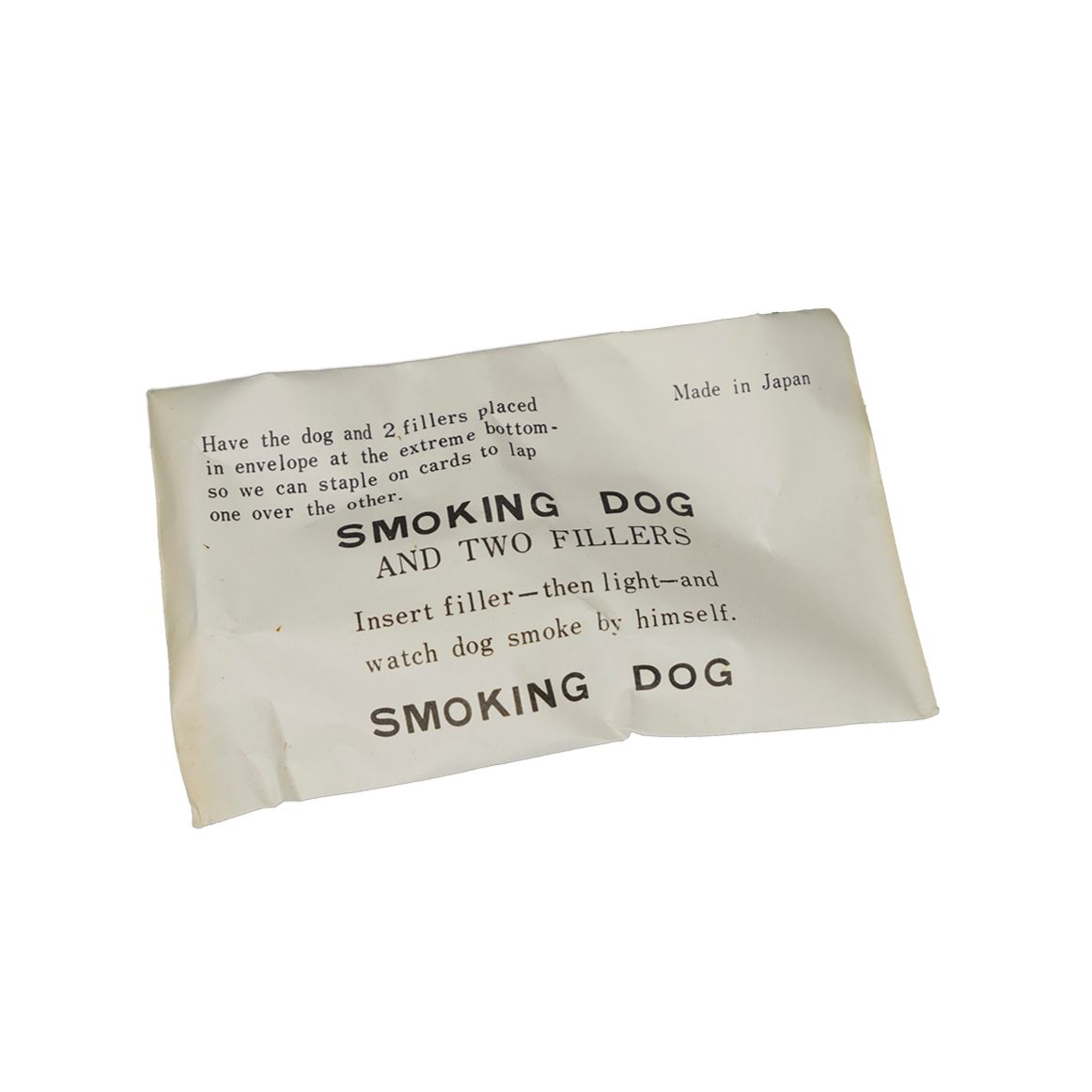 Smoking Dog And Two Filters from Japan, circa 1950s, N.O.S.
