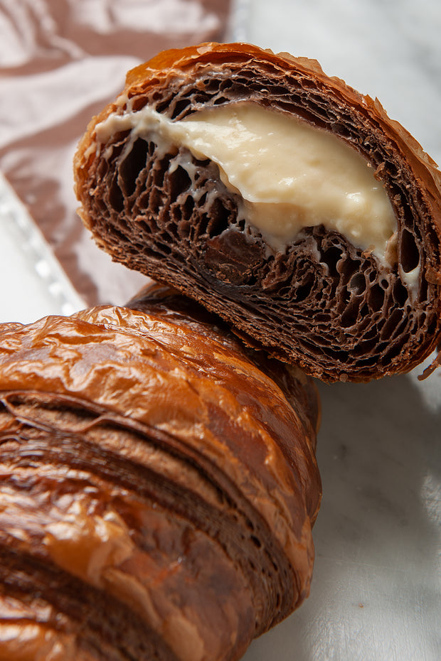 The Almighty Pastry Cream Filled Triple Chocolate Croissant - FROZEN