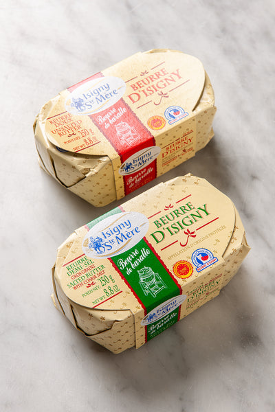 "Beurre D'Isigny French AOP Butter - ""Beurre de Baratte"" - 250 Grs"