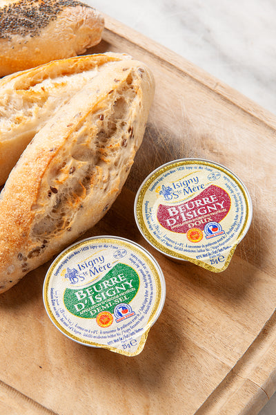 Beurre D'Isigny French AOP Butter  - MINI 25G - Pack Of 6 Pieces