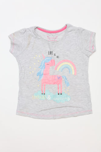 Tweedehands kinderkleding shirt primark unicorn