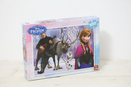 Tweedehands kinderpuzzel frozen disney king