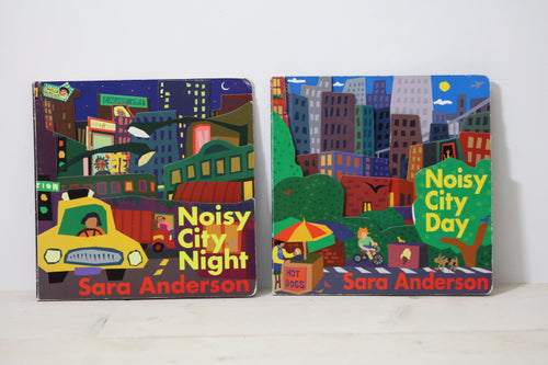 second hand children books noisy city night day