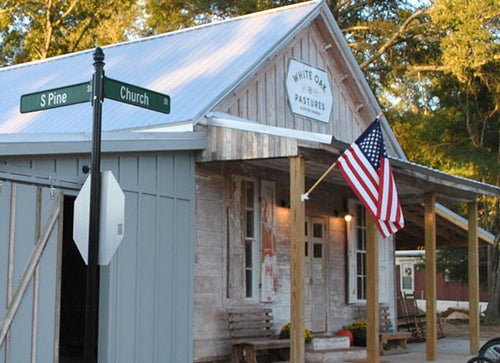 Photo of the Bluffton General Store at the corner of South Pine and Church Street