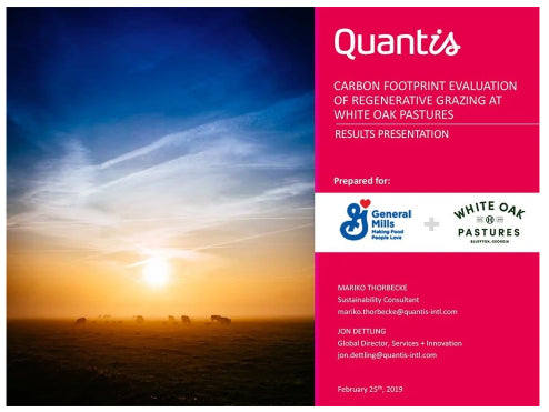 Quantis Life Cycle Assessment Cover