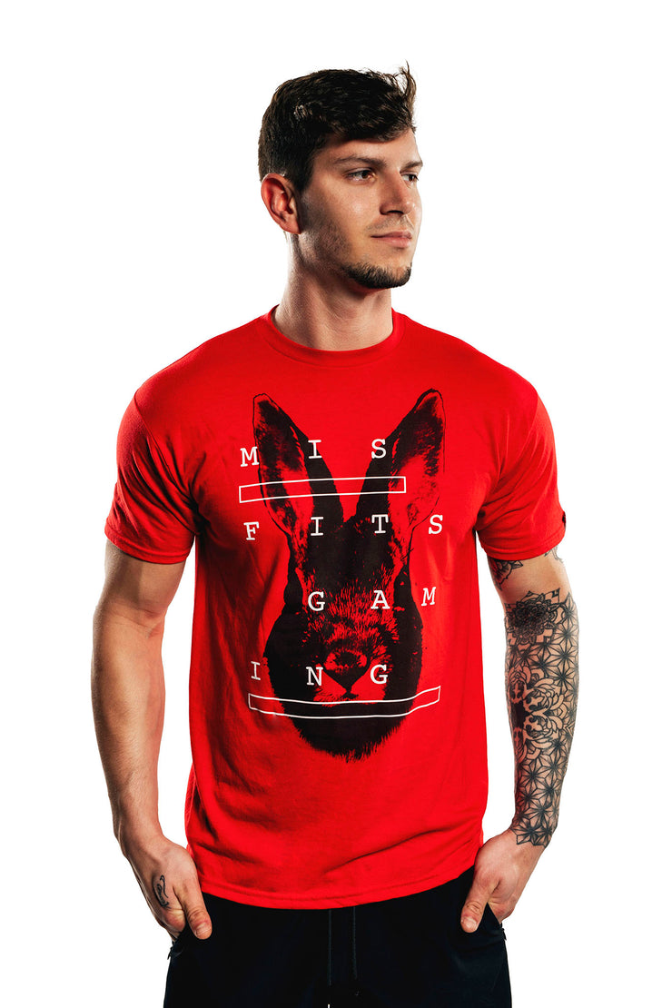 Misfits Gaming Digital Fright Tee, Red