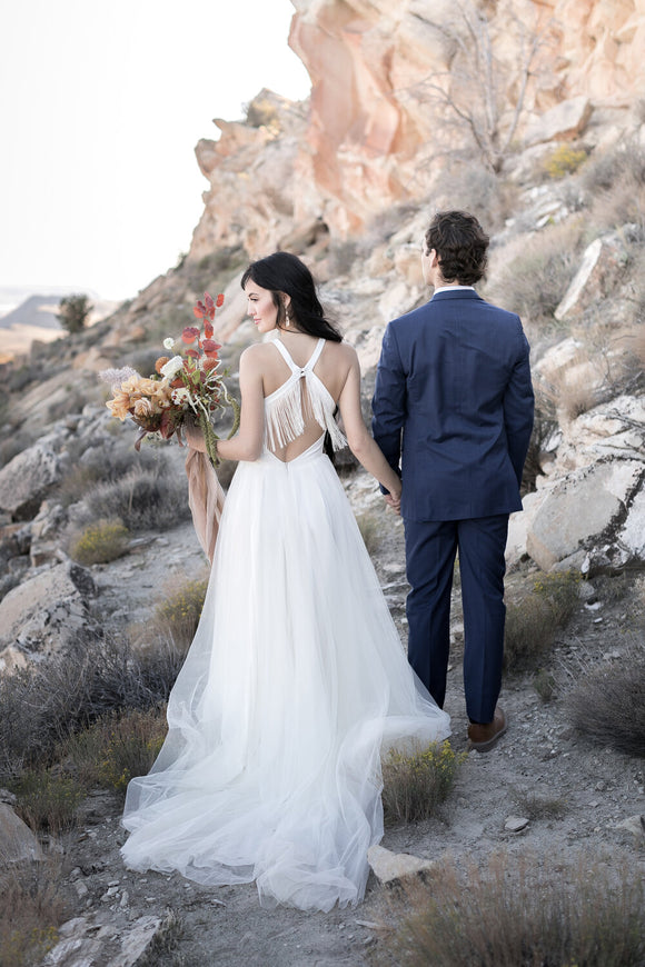 Sierra Fringe Wedding Dress