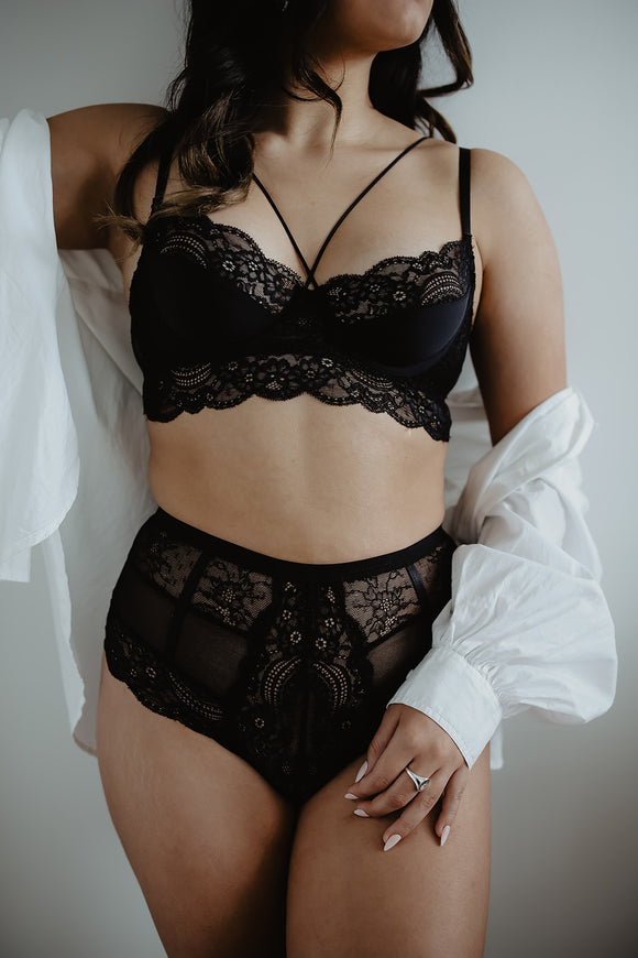 Black Lace Bra
