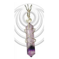 Pendant Amethyst Double Terminated