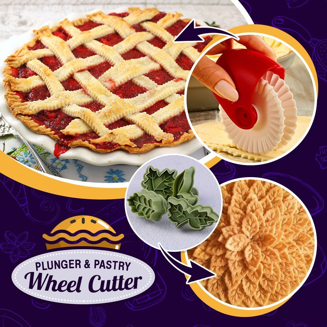 Pie Crust Wheel Cutter & Decorator Set