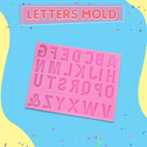 Silicone Alphabet Letter and Number Mold