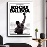 Tableau boxe ROCKY BALBOA POING LEVE