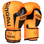 Gants de boxe ORANGE (Gingpai)