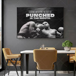 Tableau boxe Mike Tyson punched