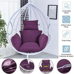 Hanging Hammock Chair Swinging Garden Seat Cushion with Pillow