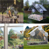Window Bird feeder Clear Squirrel Proof Suction Cup