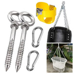 Hammock swing chair Suspension Accessories Set eye hook wood screws