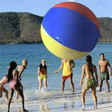 Inflatable Giant Rainbow Beach Ball Three-color Water Volleyball  Soccer Pool Party Kids Fun Toys