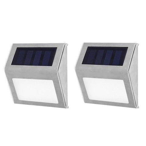 1-4pcs Solar Light 3LED Outdoor Garden Pathway Stairs Lamp Waterproof