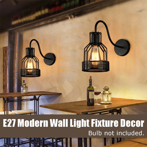 Retro Industrial Wall Light Bar Sconce Lamp Fixture  E27 110-240V