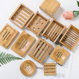 Wooden Natural Bamboo Soap Dish Tray Holder Storage Container