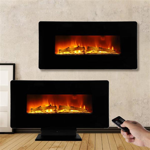 Electric Fireplace 3D LED Simulation flame Fire Wall Hanging variety