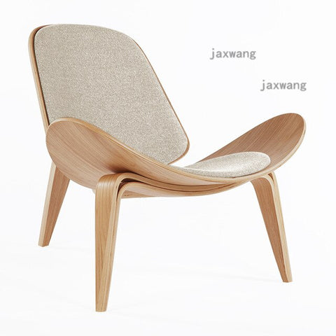 Solid Wood Nordic Backrest Modern Living Room Chair