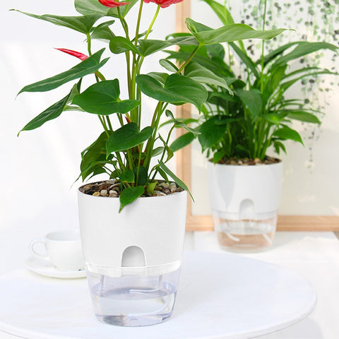 2 Layer Automatic Self Watering Planter Flowerpot Irrigating Vase