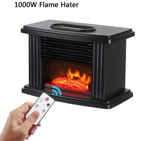 1000W Electric Fireplace Remote Control Portable Indoor Space Heater