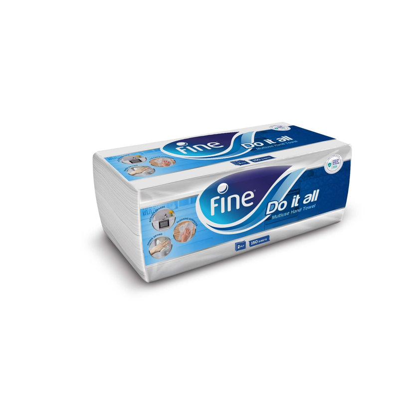 Fine, Do It All, Sterilized Paper Towel, 150 Sheets, 2 Ply, Single Pack