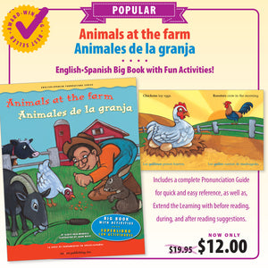 Animals at the Farm Big Book / Animales de la granja