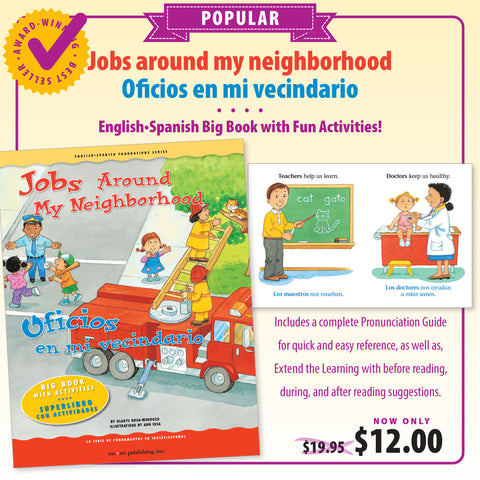 Jobs Around My Neighborhood Big Book/ Oficios en mi vecindario