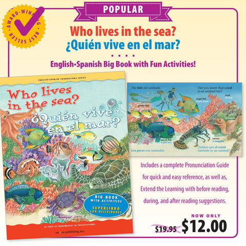 Who lives in the sea? Big Book / ¿Quién vive en el mar?