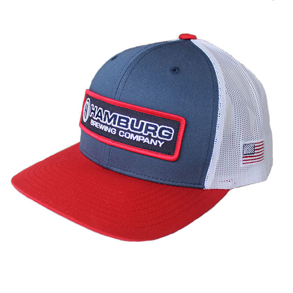 Red White and Blue Snapback Hat
