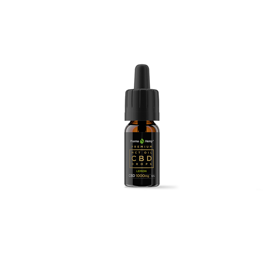 Pharmahemp™ CBD Oil Drops in MCT Oil 10% 10ml Lemon Flavour.