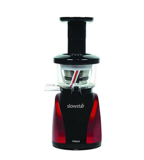 Slowstar Vertical Slow Juicer & Mincer - Red & Black